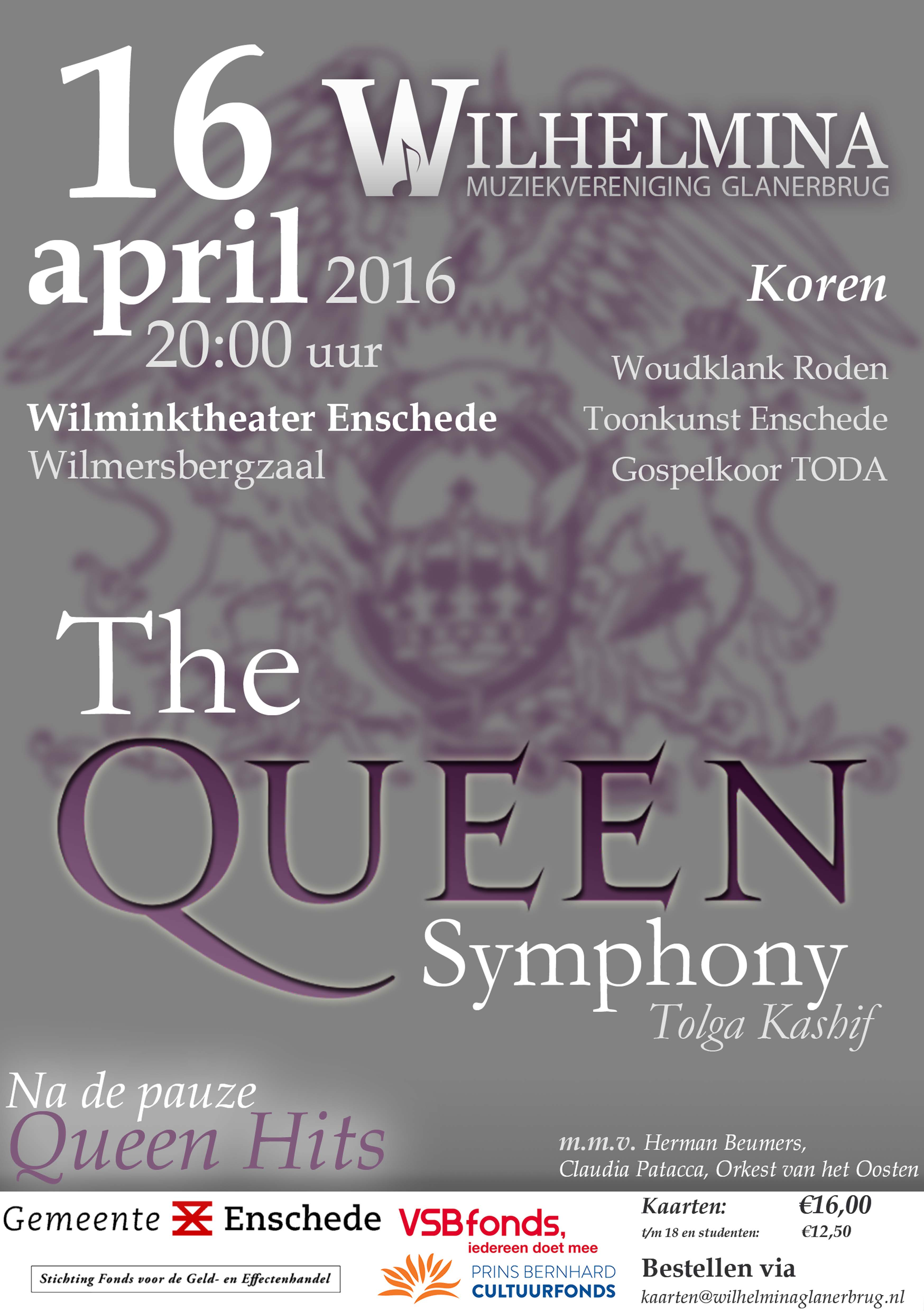 20160416 The Queen Symphony Tourposter